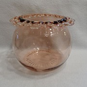 SALE Vintage - Depression Glass - Pink - Fruit Bowl