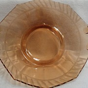 SALE Vintage - Depression Glass - Amber - Fruit Bowl