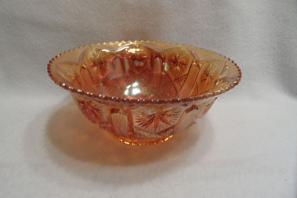 Vintage - Carnival Glass - Orange - Bowl