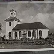 SALE Vintage - 1920's - Postcard of the Alvsreds Kyrka Church - Sweden