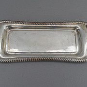 Vintage - Silver Plated over Copper Butter Dish