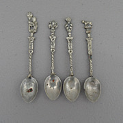 Vintage - Set of Four Saint Spoons