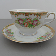 Vintage - Diamond - Tea Cup and Saucer
