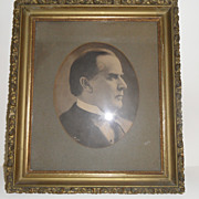 Antique - Framed Picture of  McKinley