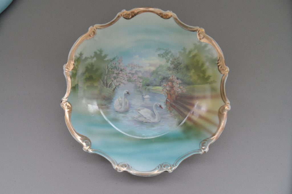 Antique - Bohemian Porcelain - Hanging Plate