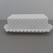 SOLD Vintage - Milk Glass - Butter Dish
