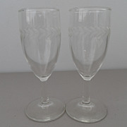 Vintage - Wine Glasses (2) - scrolled wheat