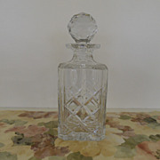 Vintage - Cut Glass - Crystal Decanter