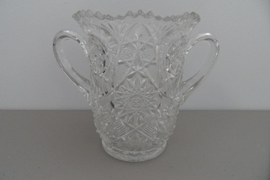 Vintage - Loving Vase - Cut Glass