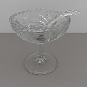 Vintage - Crystal Compote with Spoon