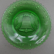 Vintage - Glass Coaster - Green
