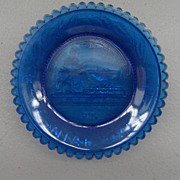 Vintage - Glass Coaster - Blue