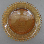 Vintage - Glass Coaster - Gold