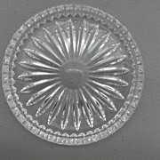 Vintage - Clear Glass Coaster