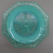 SOLD Vintage - Glass Coaster - Turquoise