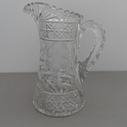 Vintage - Cut Glass Crystal Pitcher