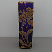 Vintage - Cobalt Blue and Gold Vase - Art Nouveau