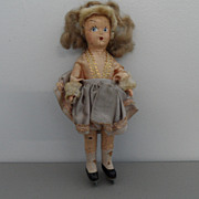 Vintage - Bisque Doll on skates!