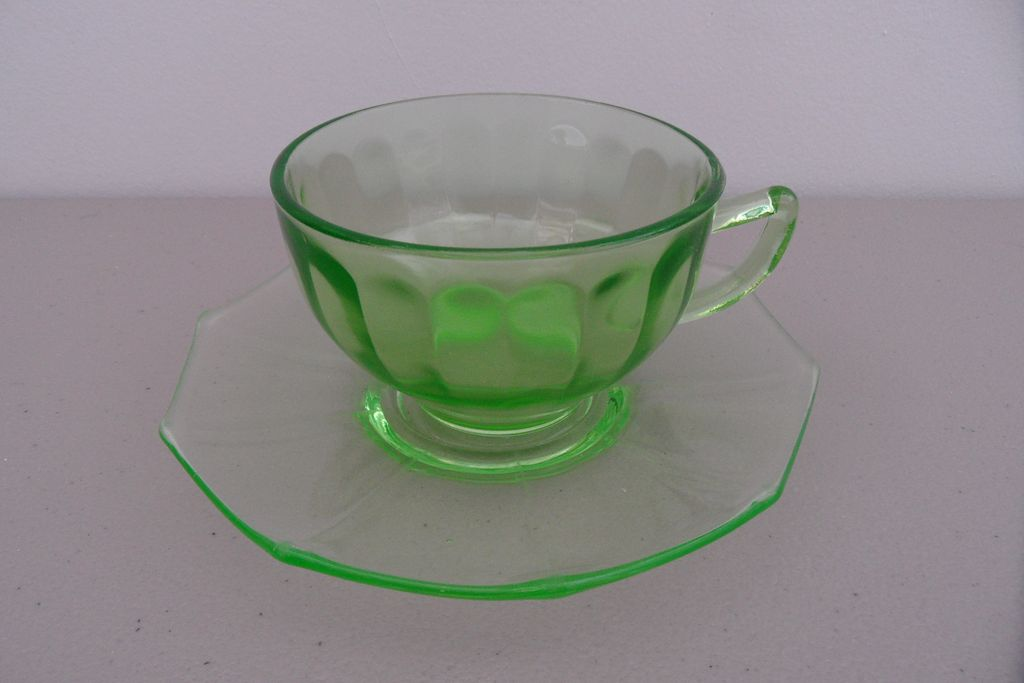 Vintage - Depression - Federal Glass Company - Cup and Saucer