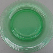 Vintage - Depression Glass - Plate