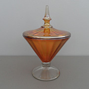 Vintage - Carnival Glass - Orange - Candy Dish