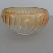 Vintage - Bowl - Frosted Carnival Glass Orange