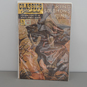 Vintage - Classics Illustrated - Comic Book - King Solomon's Mines