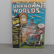 "Vintage - Thrills of Mystery - Comic Book - ""Unknown Worlds"""