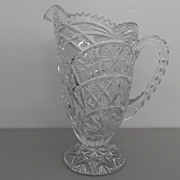 Vintage - Crystal Pressed Glass - Pitcher