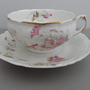 Antique - Limoges - Tea Cup and Saucer