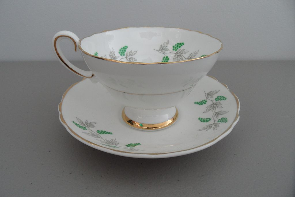 Vintage - Staffordshire - Fine Bone China - Tea Cup and Saucer