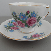 Vintage - Royal Vale - Bone China - Tea Cup and Saucer