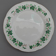 Vintage - Homer Laughlin - Liberty Shape, Green Ivy Border - Gold Scallop Edge - Plate