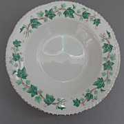 Vintage - Homer Laughlin - Liberty Shape, Green Ivy Border - Gold Scallop Edge - Rimmed Bowl