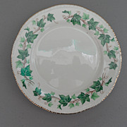 Vintage - Homer Laughlin - Liberty Shape, Green Ivy Border - Gold Scallop Edge - Dessert/Pie .