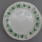Vintage - Homer Laughlin - Liberty Shape, Green Ivy Border - Gold Scallop Edge - Bread Plate