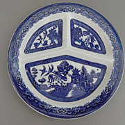 Vintage - 1920's Grill Plate - Blue Willow