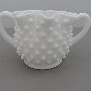 Vintage - Milk Glass - Sugar Bowl