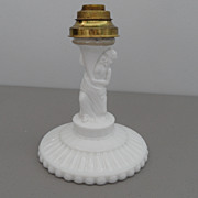 Vintage -  Milk Glass - Candle Holder