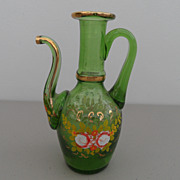 Vintage - Art Deco - Green Bohemian Tea Pot