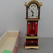 Vintage - Mini Grandfather Clock - West Germany