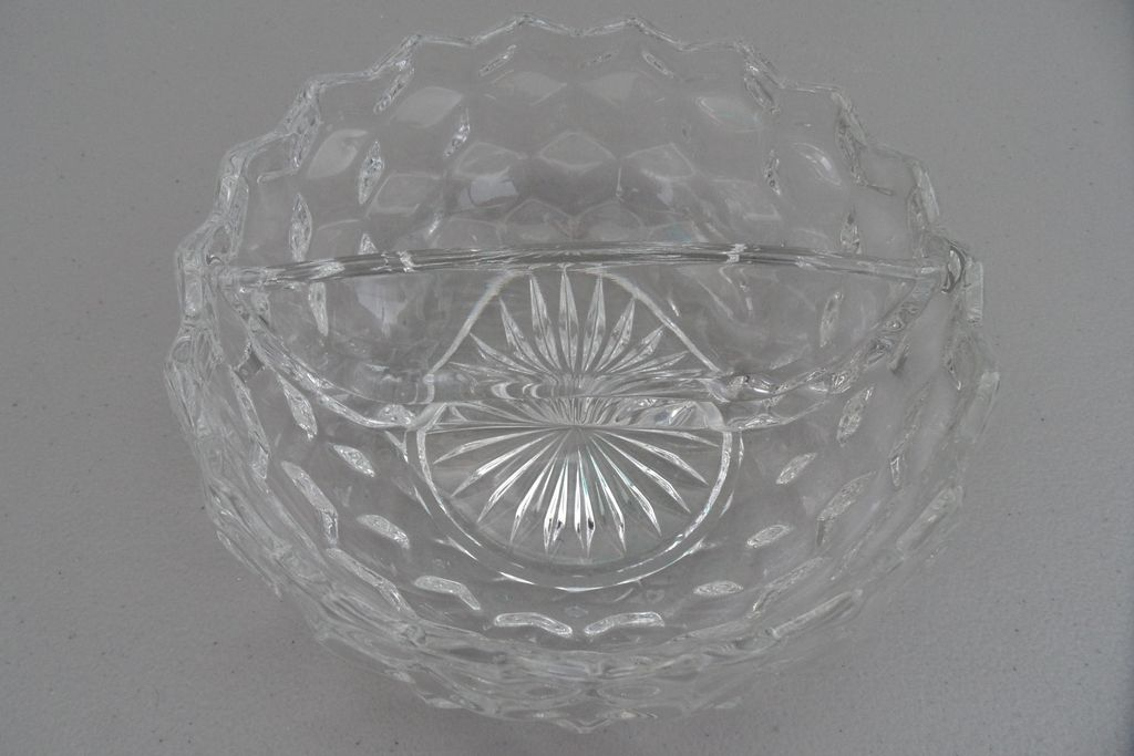 Vintage - Glass Separated Serving Bowl