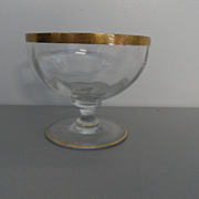 Vintage - Glass Bowl - Gold Rim