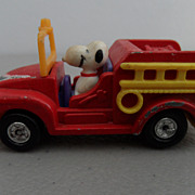 Vintage - Snoopy Fire Truck - 1958 - 1966