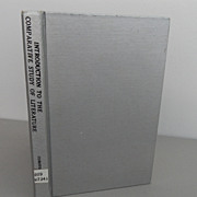 Vintage - Book - Introduction to the Comparative Study of Literature