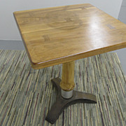 Vintage - Metal Base - Wood Top - Industrial Table