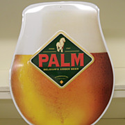 Vintage - Palm Beer Sign - Metal
