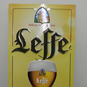 SOLD Vintage - Leffe Beer Sign - Metal