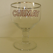 SOLD Vintage - Beer Glass - Chimay 25cl  Made in Italy