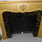 Vintage - Mantle - Finished in a Faux Gold over Black Marble